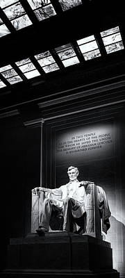 Lincoln Memorial Photograph - Abraham Lincoln Seated by Andrew Soundarajan