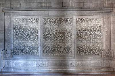 Politicians Royalty-Free and Rights-Managed Images - Abraham Lincoln - Second Inaugural Address in the Lincoln Memorial Washington D.C. by Marianna Mills