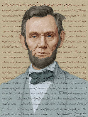 Lincoln Portrait Digital Art - Abraham Lincoln - Soft Palette by Swann Smith