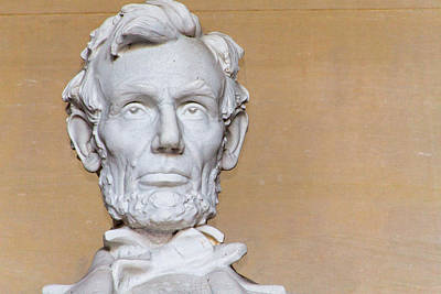 Photograph - Abraham Lincoln Statue Head by SR Green