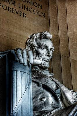 Politicians Royalty-Free and Rights-Managed Images - Abraham Lincoln Statue - The Lincoln Memorial Washington D. C.  by Marianna Mills
