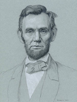 Abraham Lincoln Drawing - Abraham Lincoln by Swann Smith