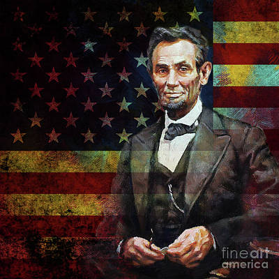 Painting - Abraham Lincoln The President  by Gull G