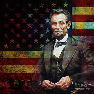 Abraham Lincoln The President  Art Print by Gull G