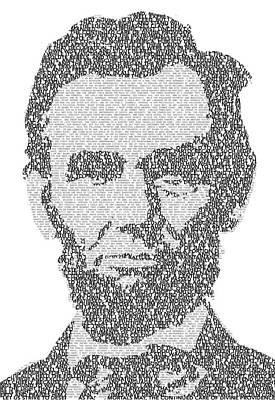 United States Digital Art - Abraham Lincoln Typography by Jurq Studio