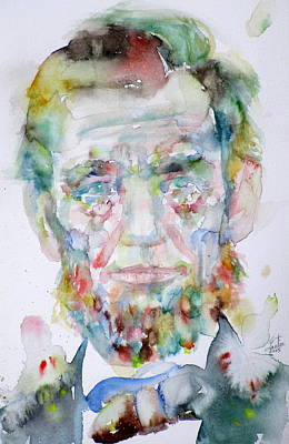 Kentucky Painting - Abraham Lincoln - Watercolor Portrait.2 by Fabrizio Cassetta