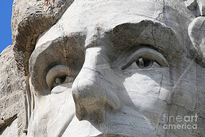 Politicians Royalty-Free and Rights-Managed Images - Abraham Lincolns Eyes Mount Rushmore 8785 by Jack Schultz