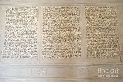 Abraham Lincoln's Second Inaugural Address Art Print