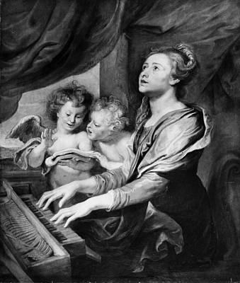 Abraham Van Diepenbeeck    Saint Cecilia Art Print