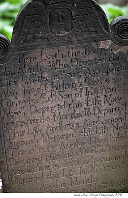 Photograph - Abrell Tombstone by Mark Alesse