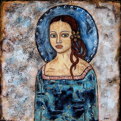 Christian Art . Devotional Art Painting - Abrienda by Rain Ririn