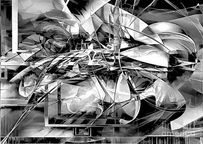Digital Art - Abs  004-2018 by Marek Lutek