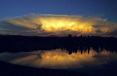 Photograph - Absaroka Thunderstorm by Steve Stuller
