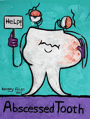 Tooth Digital Art - Abscessed Tooth by Anthony Falbo
