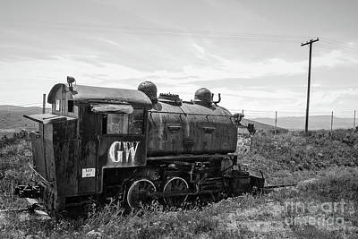 Photograph - Abandoned Mine Locomotive Butte Montana by Edward Fielding