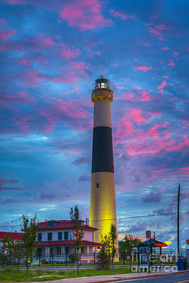 Photograph - Absecon Coastal Lighthouse by David Zanzinger