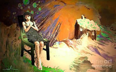 Absent Love Art Print by Miki De Goodaboom