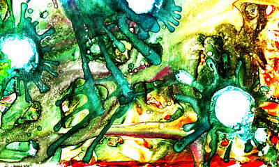 Painting - Absentminded by Sir Josef - Social Critic -  Maha Art