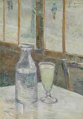 Painting -  Absinth Mesa De Cafe Con Absenta by Artistic Panda