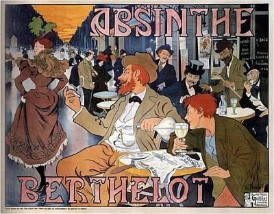 Mixed Media - Absinthe Berthelot - Vintage Liquor Advertising Poster by Studio Grafiikka