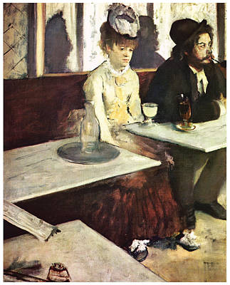 Absinthe Art Print by Edgar Degas