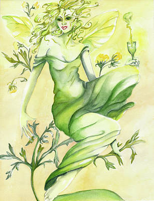Absinthe-the Green Fairy Art Print