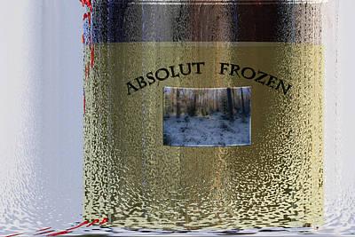Absolut Photograph - Absolut Frozen by Ove Rosen