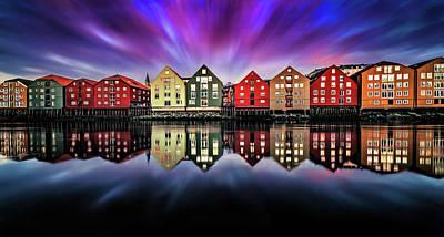 American Milestones - Absolutely beautiful sunset in Trondheim by Aziz Nasuti