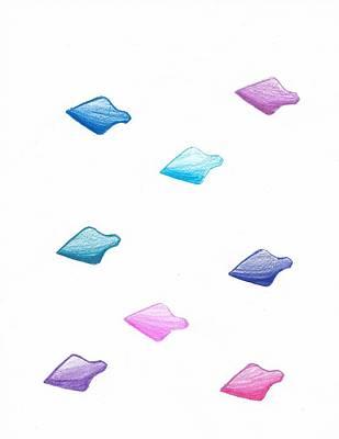 Absract Colored Arrowheads Art Print