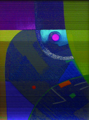 Mochica Painting - Abstraccion by Roberto Kasisol