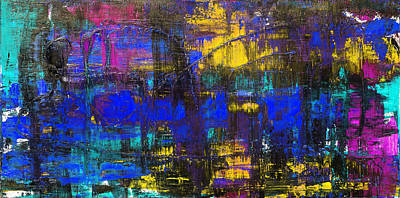 Photograph - Abstract # 2 Blue Night by Rich Franco