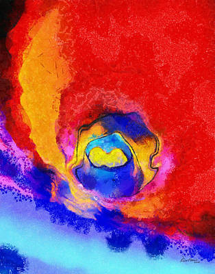 Watercolor Art Painting - Abstract - Burnt by Russ Harris