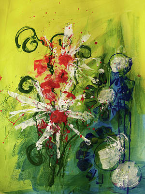 Painting - Abstract 1  by Christine MARTIN
