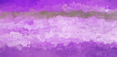 Photograph - Abstract #1 Purple by Rich Franco