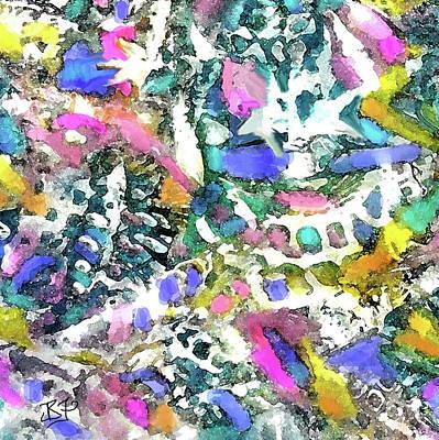 Digital Art - Abstract 101-detail by Jean Batzell Fitzgerald
