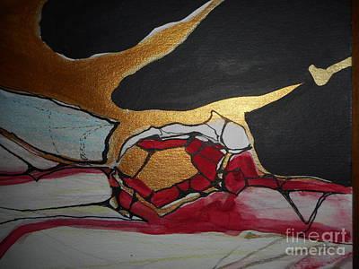 Metal Sheet Mixed Media - Abstract-11 by Katerina Stamatelos