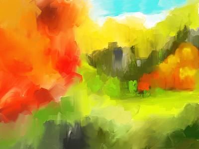 Abstract 112210 Art Print by David Lane