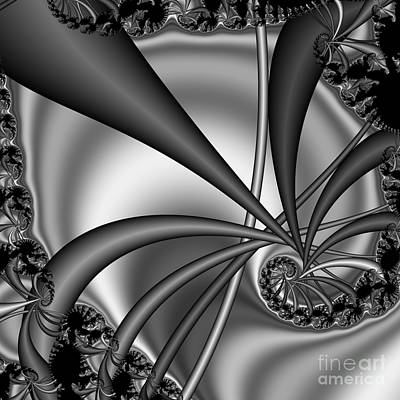 Abstract 123 Bw Art Print by Rolf Bertram