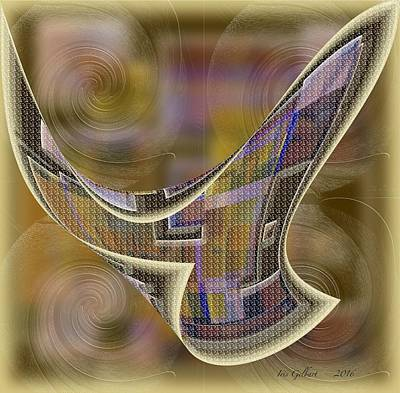 Interlocking Digital Art - Abstract 1369 by Iris Gelbart