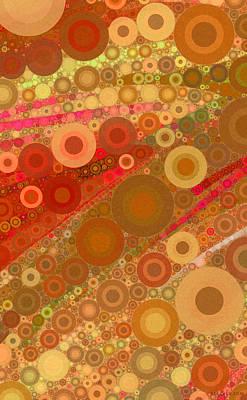 Matrix Digital Art - Abstract 1.5 - Gold by John Deecken