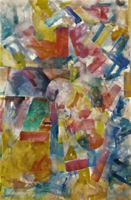 Basic Painting - Abstract 16 by Khalid Saeed