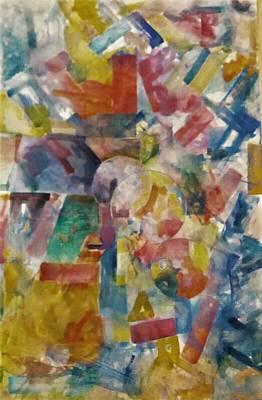 Basic Painting - Abstract 16 by Khalid Saeed