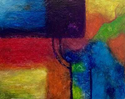 Pastel - Abstract 2 by Thelma Delgado
