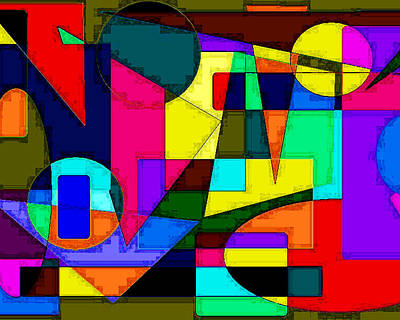 Art Print featuring the digital art Abstract 2 by Timothy Bulone