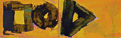 Painting - Abstract 2071-diptych by Cliff Spohn