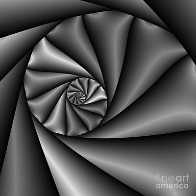 Abstract 222 Bw Art Print by Rolf Bertram