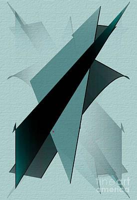 Abstract Expressionist Digital Art - Abstract 25 by John Krakora