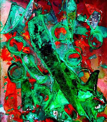 Oil Pastel Mixed Media - Abstract 29 by John  Nolan