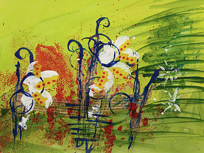 Painting - Abstract 3 by Christine MARTIN