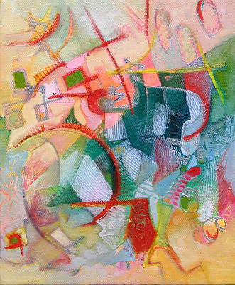 Small Abstract Painting - Abstract 3 by Susanne Clark